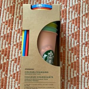 Starbucks colour changing reusable cold cups